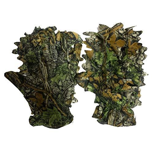 Buding Deerhunter Handschuhe 3D Ghillie Suit Handschuhe Blatt Tarnanzug Handschuhe Woodland Tarnanzug Camo Camouflage Kleidung Jagd EIN Paar
