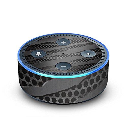DeinDesign Amazon Echo Dot 2.Generation Folie Skin Sticker aus Vinyl-Folie Carbon Metall Metal