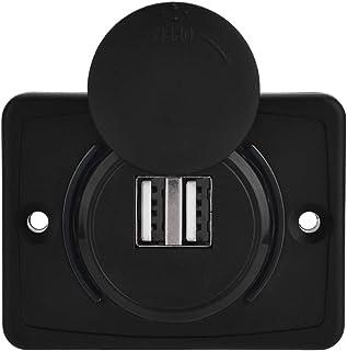 Auto USB 3.1A Auto Dual Zwart ABS USB-poort Oplader Stopcontact 12V LED Waterdicht