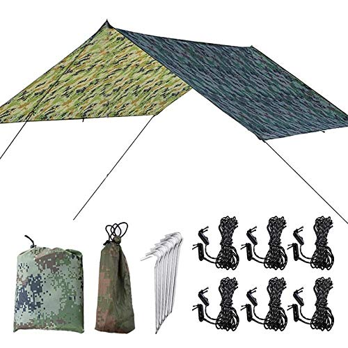 shunlidas Camping Tarpaulin Sunshade Tent Multifunctional Hammock Tent Waterproof Beach Tarp Sun Protection Camping Hiking Tent Dropship