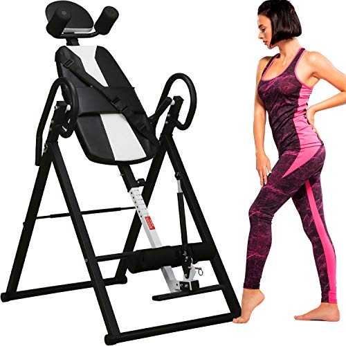Merax Comfort Inversion Table with Adjustable Ultra-Thick Back Support (Black)