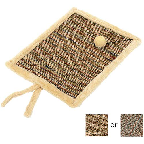 OH Pet Cat Grinding Footpad with a Small Ball Four Seasons General Scratching Pad Cat Bed Mat Hemp Rope Scratch Board for Cats Cat Carpets