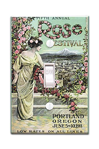 Portland, Oregon - Fifth Annual Rose Festival - Vintage Advertisement (Light Switchplate Cover)