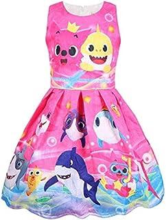 Looekveoyi Girls Bikini Sets 1-5Years Toddler Kids Baby Boys Sleeveless Cartoon Shark Swimsuits Hat Set Summer Swimwear Bathing Suit