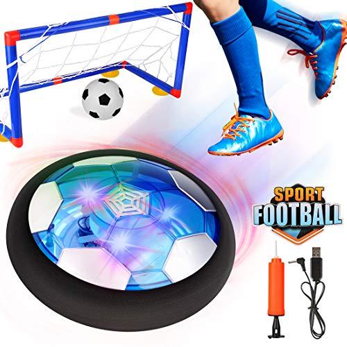 Etmury Home Air Power Fußball Set, USB Hover Power Ball Indoor Football Fussball Spielzeug Schweben Sie Fußball mit Bunt LED Beleuchtung für Kinder Innen&Außen Spielzeug Geschenk