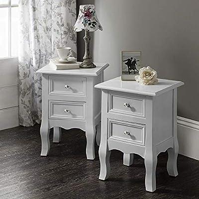 2 Windsor Bedside Tables Nightstands , Fully Assembled