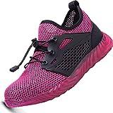 Ucayali Zapatillas de Seguridad para Trabajar Mujer Calzado Trabajo Ligeras Zapatos de Seguridad Verano con Punta de Acero Malla Comodos Transpirables Antiestaticos(034 Rosa Mesh, 38 EU)