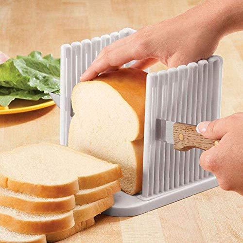 2 pack Bread Slicer, Bread Slicer Guide,table Bread/Roast/Loaf Slicer Cutter, Sandwich Maker Toast Slicing Machine Folding and Adjustable Handed Bread Slicer