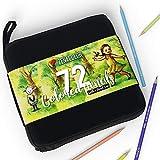 72 Lápices de Colores Profesional, Únicos con Estuche de Transporte Zenacolor - 72 Lapices colores Para pintar Mandalas de Adultos y Lapices de Dibujo para niños - Kit de Lapices de colores