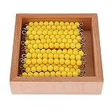 P Prettyia 45 Uds. Material de Matemáticas Montessori: Barra de Perlas para Niños Contando Juguetes Educativos, Incl. Caja