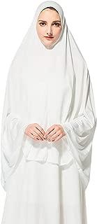 wuliLINL Prayer Khimar head scarf, instant black hijab, ready to wear muslim accessories Long Hijab Under Scarf for women