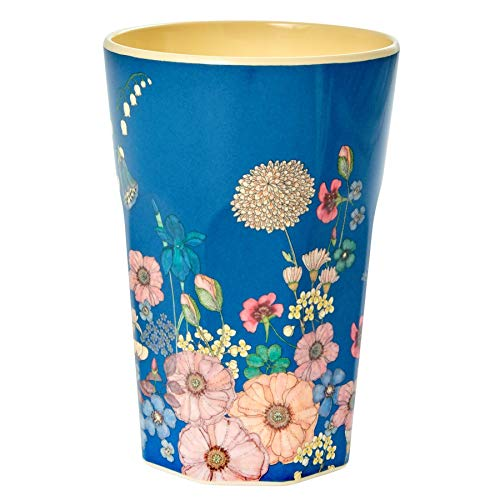 RICE Melamine Cup with Flower Collage Print - Tall