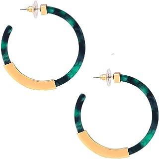 Acrylic Resin Earrings Bohemia Tortoise Shell Hoop Earrings Mottled Statement Stud Earrings Fashion Jewelry for Women Girls