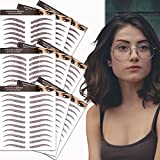 Eyebrow Tattoos Sticker 99 Pairs,Reddish Brown(Chocolate Color) Realistic Fake 4D Eyebrows Tattoo for Women,Eyebrow Transfers Sticker Waterproof and Long-Lasting