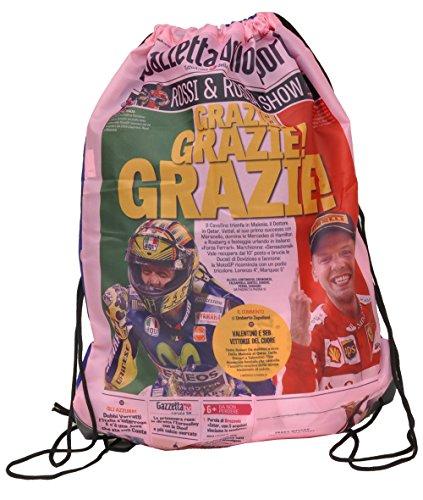 Fiori GZ200/VF Paolo Gazzetta dello Sport Sacca, Poliestere, Rosa/Giallo/Rosso, 49 cm