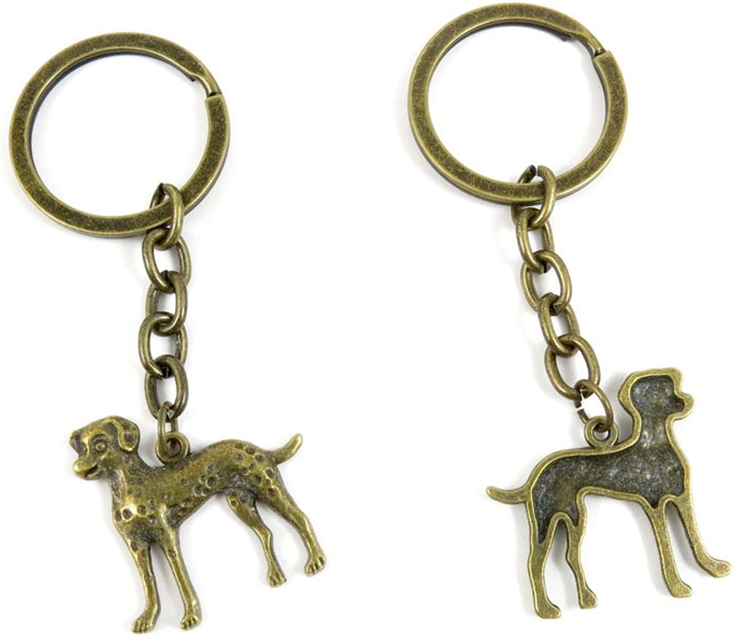 190 Pieces Fashion Jewelry Keyring Keychain Door Car Key Tag Ring Chain Supplier Supply Wholesale Bulk Lots F7VP1 Dog Dalmatians
