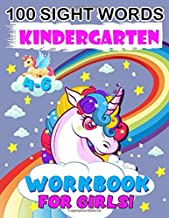 100 sight Words Kindergarten Workbook for Girls: Top 100 High-Frequency Sight words for preschoolers and kindergarteners ages 4-6 years old