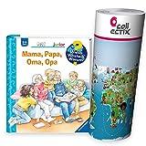 Collectix Ravensburger Junior ab 2 Jahren - Wieso? Weshalb Warum? Kinderbuch | Mama, Papa, Oma, Opa - Familie + Kinder Wimmel-Weltkarte