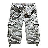 Astemdhj Pantalones Cortos Pantalones Cortos De Carga para Hombres Pantalones Cortos De Entrenamiento Informal para Hombres Militares Pantalones Cortos con Múltiples Bolsillos hasta La Pant