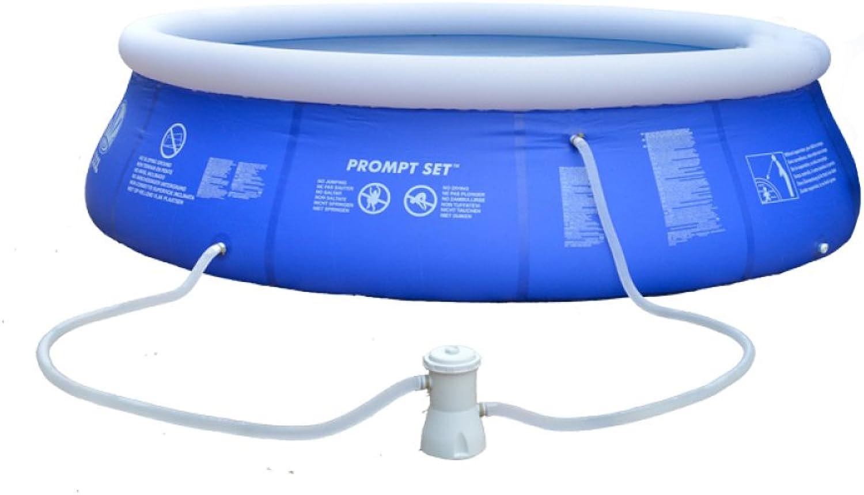 LZTET Schnell-Set Rund Aufblasbare Familie Schwimmbad Faltung Wanne Kinder Pool Multi-Layer Aufblasbare Badewanne Garten Im Freien Schwimmen Spielen Pool Planschbecken,Blau-180  73cm