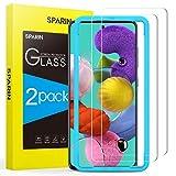SPARIN [2 Pezzi Compatibile con Samsung Galaxy A51 Pellicola Vetro Temperato, Pellicola Protettiva Samsung A51 con [Strumento di Installazione Facile] [HD Chiaro]