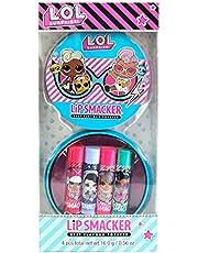 Lip Smacker - L.O.L Surprise 4 gearomatiseerde lippenbalsem Tin - Set van gearomatiseerde lippenbalsems voor kinderen - Tin Box van 4