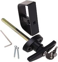 shed door t handle installation