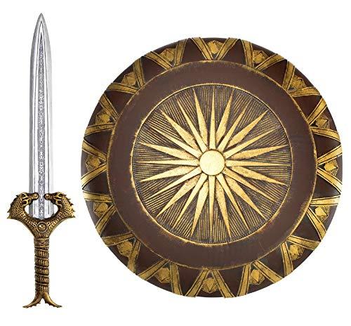 Disfraz de espada y escudo para mujer adolescente y adolescente