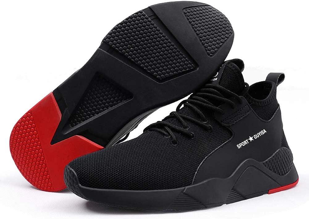 tqgold Zapatos de Seguridad para Hombre Mujer S3 Zapatillas de Verano Zapatos de Trabajo con Punta de Acero