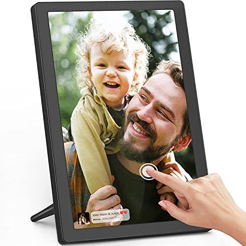 Digitaler Bilderrahmen, 20,32cm(8 Zoll), MARVUE WLAN Elektronischer Bilderrahmen, HD IPS Touchscreen, Familie/Freunde, 16 GB, Schwarz