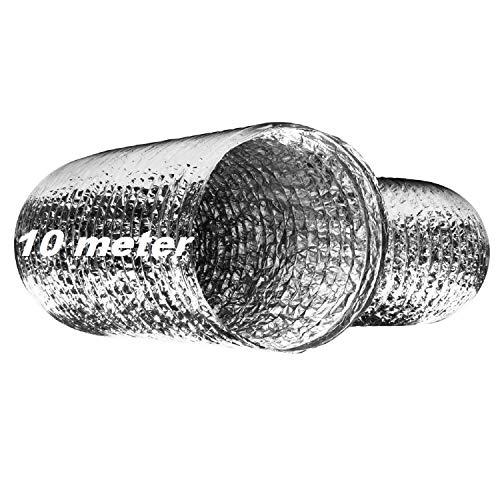 Uzman-Versand Flexibele slang, aluminium buis, ventilatieslang, afvoerpijp, afvoerslang, afzuigkap airconditioning droger afzuigkap verwarming, afvoerlucht 127mm-10meter