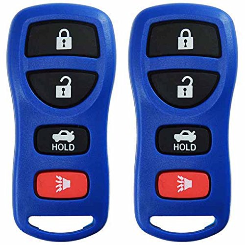 KeylessOption Keyless Entry Remote Control Car Key Fob Replacement for KBRASTU15-Blue (Pack of 2)