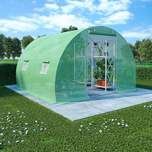 UnfadeMemory Invernaderos de Jardín,Invernadero Caseta para Cultivo Frutas,Verduras y Plantas,Cimientos de Acero,Ventanas...