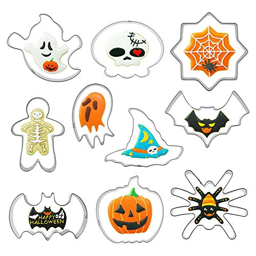 Emporte-pièces Halloween,10 Pièce Emporte-pièces en...