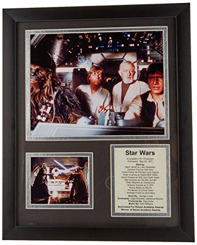Coleira de fotos emoldurada Legends Never Die Star Wars, 28 x 35 cm