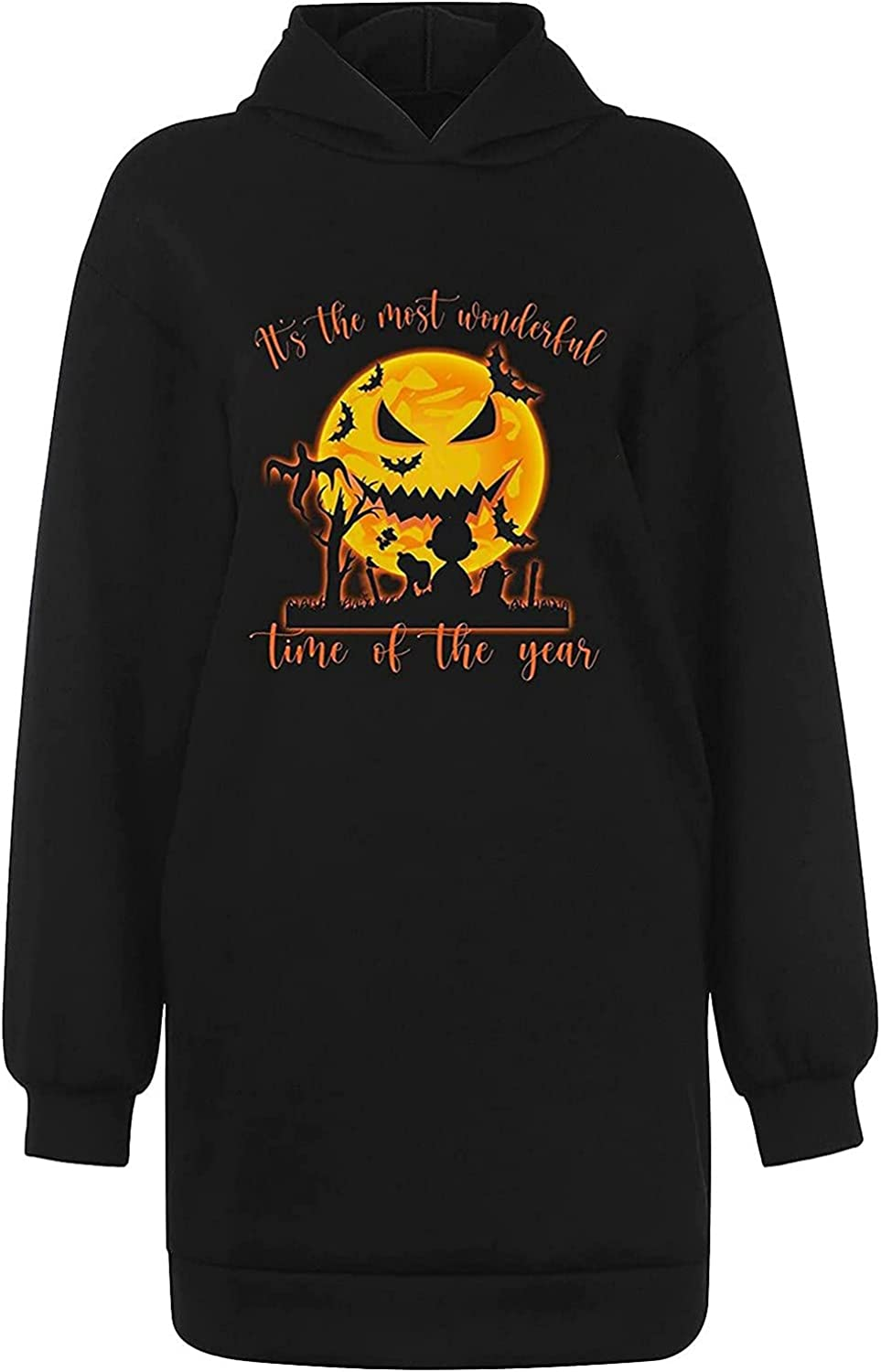 Halloween Spring new work one 2021 spring and summer new after another Women Hoodies Skeleton Pumpkin Print Casual Lo Graphic