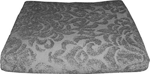 Alta calidad Toalla 100x 180con ornamentos patrón–Tejido jacquard–Toalla ringarn algodón medusa, 100 % algodón, anthrazit / anthrasite, 100 x 180 cm