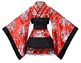 Sheface Women's Cosplay Lolita Fancy Dress Japanese Kimono Anime Costumes (XX-Large, P03 Red)