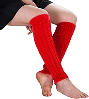 821e4e87ddb0f URIBAKE Women Thermal Leg Warmers High Knee Knitted Crochet Winter Long  Soft Socks
