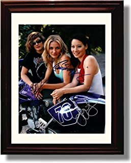 Framed Cast of Charlies Angels Autograph Replica Print - Charlies Angels