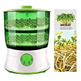 DOTSOG 110V Seed Sprouter, Auto Household Bean Seed Cereal Sprouts Machine,Large Capacity 220V,Power-Off Memory Function