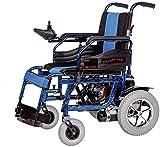 Silla de Ruedas eléctrica, Sillas de ruedas eléctricas for Adultos aprobado por la FDA transporte respetuoso con el peso ligero plegable Silla de ruedas eléctrica for adultos, Azul, 20Ah ,Andador