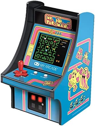 My Arcade Micro Player Mini Arcade Machine Ms Pac Man Video Game Fully Playable 6 75 Inch Collectible product image