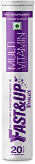 Fast&Up Vitalize Multivitamin Supplements, One daily with Natural Beetroot Extract for Men and Women, Orange Flavour - 20 ...