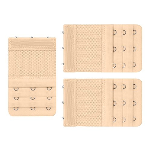 3 Pack Women's Bra Extender 3 Hooks 3 Row £¨All Beige£