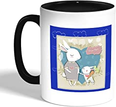 love you mom Printed Coffee Mug, Black (Ceramic)