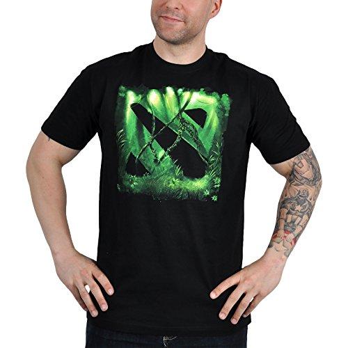 DOTA 2 T-Shirt mit Ingame Code/Digital Unlock und MOBA Logo im Jungle Look lizenziert schwarz - M