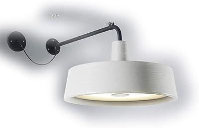Lampe Murale LED 28 W avec diffuseur en méthacrylate modèle Soho A, Blanc, 40,3 x 89 x 40,3 cm (référence : A631-154)