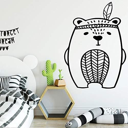 Niedlicher Bär Wohnkultur Aufkleber Wanddekorationen LILA L 43cm X 60cm