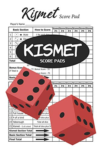 Kismet Score Pads: 100 Kismet Score Sheets - 6